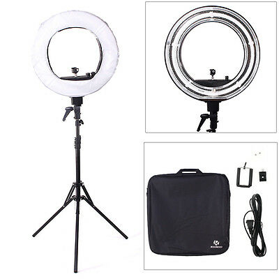 "ROCOMOCO 18"" 5500K Ring Light Dimmable Continuous Lighting Photo Video Stand Kit"