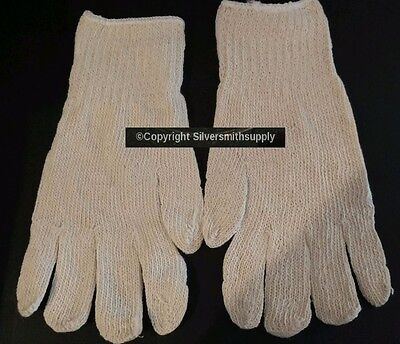Large size jewelry buffing gloves 1 pair Silversmith Goldsmith polishing gloves