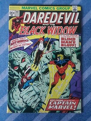 Daredevil And The Black Widow #107 [1973,Marvel] * Captain Marvel *