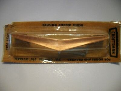 Vtg NOS Brushed COPPER Chevron DRAWER Pulls Cabinet Handles Craftsman Boomerang