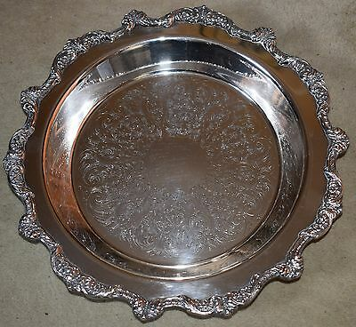 Poole Old English Silver Plate Bowl Dish Elegant 3 Footed Fruit Bowl 5017