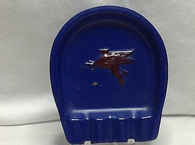 Vintage Mobil Gas Advertising Ashtray