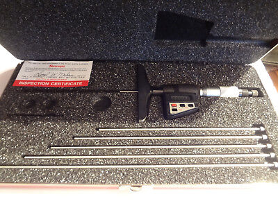 "Starrett 749BZ-6RL Digital Micrometer Depth Gauge 0""-6"" *** New!!"