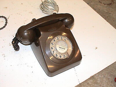 Old Brown GPO 746 Telephone 1970's Phone - Sutton on Sea