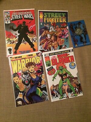 *new Street Fighter Unlimited Variant Covers 1,6,10 + 20 Ann. Coin Udon Capcom