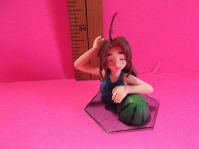 "Love Hina Otohime Mutsume 2.25""in Blue One Piece Eyes Closed Wading in Water"