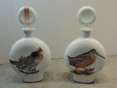 Vintage 1969 Woodcock and Ruffed Grouse Whiskey Decanters