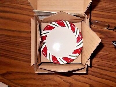 Longaberger Peppermint Twist Set Of 4 Coasters New In Box Pottery