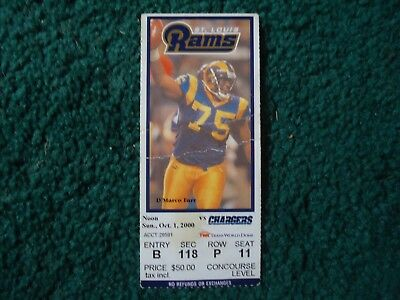 St.Louis Rams v San Diego Chargers NFL Ticket Stub Oct 1, 2000