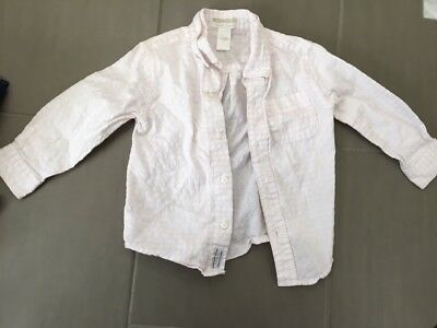 Janie and Jack boys dress shirt, pink and white, Special Occasion line, size 2T