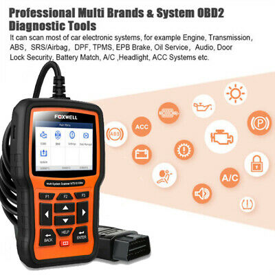 FOXWELL NT510 All Systems OBD2 Diagnostic Scanner Tool Engine ABS Airbag For BMW