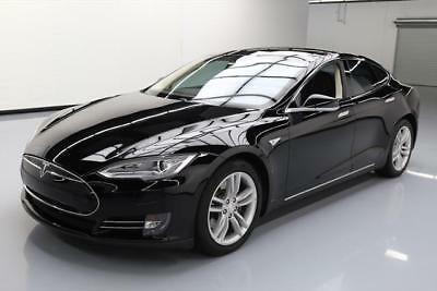 2014 Tesla Model S  2014 TESLA MODEL S 85 TECH PANO ROOF NAV REAR CAM 36K #P36869 Texas Direct Auto