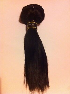 "Brazilian 100% Virgin Human Hair Straight in Colour 1B 8"" 100G"