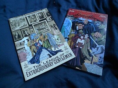 The League of Extraordinary Gentlemen 1 + 2 USED Trade Paperbacks suberb order