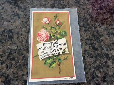 Victorian Antique Trade Card for Thurbers' Pride of the Kitchen Soap Excl.cond.