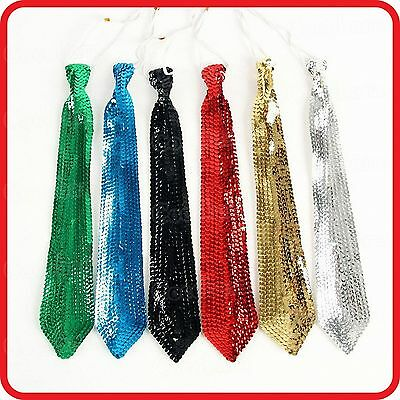 Kids Childrens Bling Shiny Glitter Sequins Necktie Tie-Dance Show Party Costume