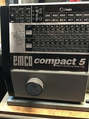 Emco Compact 5 Lathe, used, for local pick up only