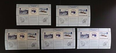 Pitcairn Islands #248 1984 Ausipex s/s VF MNH x 5 sheets cv$17.50 (v194)