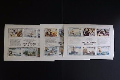Pitcairn Islands #320-2 1989 VF MNH settlement set cv$30.75 (d018)