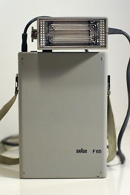 Vintage Braun F65 Flash Unit, Grey, Dieter Rams 1962 minimalist masterpiece