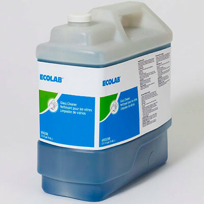 6100288 Ecolab Glass Cleaner & Surface Cleaner 2.5 Gallon Ultra Concentrated