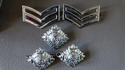 British police sargent metal badge + 3 epaultte badges