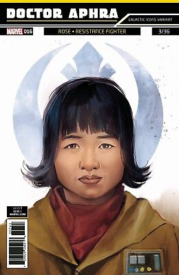 Star Wars Doctor Dr Aphra 16 Rose Fighter Galactic Icons Variant Pre-Sale 1/10