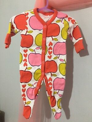 Cute Baby Girls Next Bright Apple Print Babygrow Sleepsuit Up To 1m🍎