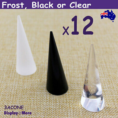 RELIABLE 12X Acrylic Ring CONE Stand-7cm | Frost Black or Clear | AUSSIE Seller