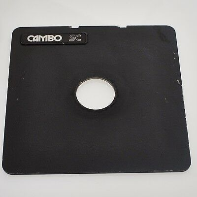 Cambo SC lens panel for Cambo monorails..Cut for size 0 Copal or Compur shutters
