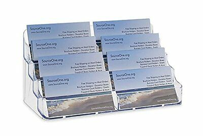 Source One 8 Pocket Desktop Clear Acrylic Business Card Holder (BC-8P)