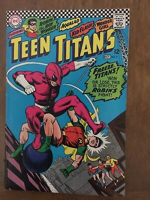 DC Silver Age Teen Titans Comic Books Issues 5, 6, 7 & 8 VG to VG+ (1966-7)