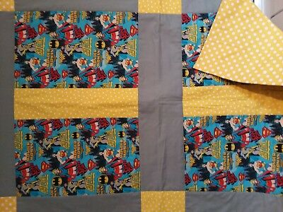 Wonderwoman,Supergirl, Batgirl handmade quilt for your Superhero WOW
