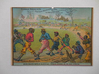 1870's Black Americana Clarence Brooks & Co.Railway Varnishes trade card