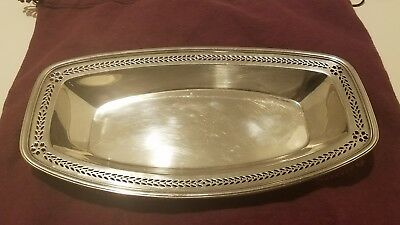Antique Art Deco Tiffany & Co Makers Sterling Silver Bread Tray Reticulated