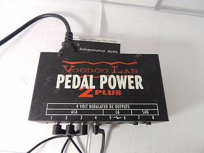 VOODOO LABS PEDAL POWER 2 PLUS POWER SUPPLY PEDALBOARD ADAPTER w/ CORDS