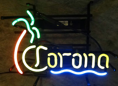 Corona 4 Color Palm Tree -- Small Neon Sign -- Pickup Only