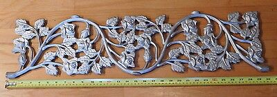 Rustic 30 Inch Cast Iron Vine Flower Wall Hanging Plaque Garden Deco