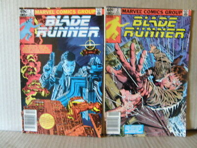Blade Runner Comic Books 1 and 2 - Marvel Comics - 1982 - Fair to good