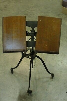 old wood and iron music stand