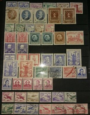 Estate Find Chile Stamps South American World Stamps UncheckedMint & used (314)