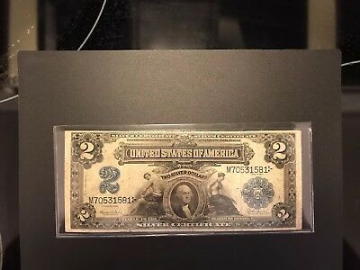 1899 Two Dollar Bill $2 United States Silver Certificate Large NOTE M70531581