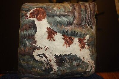 GERMAN SHORT HAIRED POINTER NEEDLEPOINT 10 x 10 PILLOW