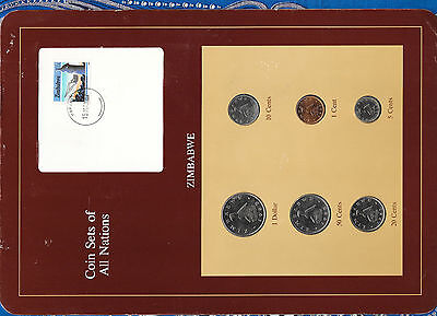 Coin Sets of All Nations Zimbabwe 1980-1988 UNC 20 cents 1987