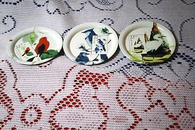 United States Post Office Commemorative Tin Miniaute Plates
