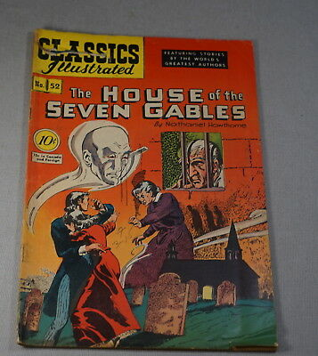 October 1948 Classics Illustrated Comic Book No 52 The House Of The Seven Gables