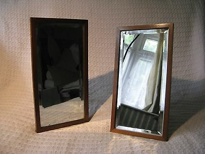 Pair of Antique Wooden Dressing Table / Easel Mirrors by Hunt's of Godalming