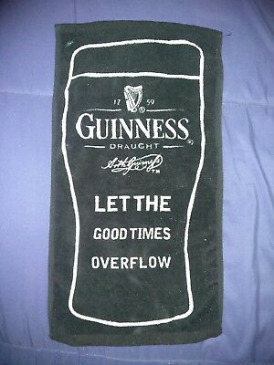 Guinness Bar Towel Pub Towel New without Tag 7 x 9 Inches