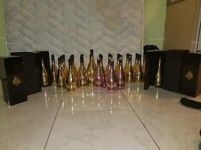 10 ace of spades empty champagne bottle