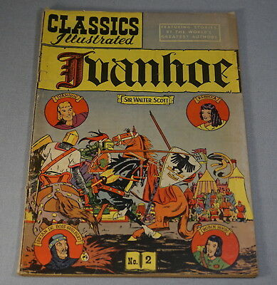 Original Vintage Classic Comics No. 2 Ivanhoe Comic Book